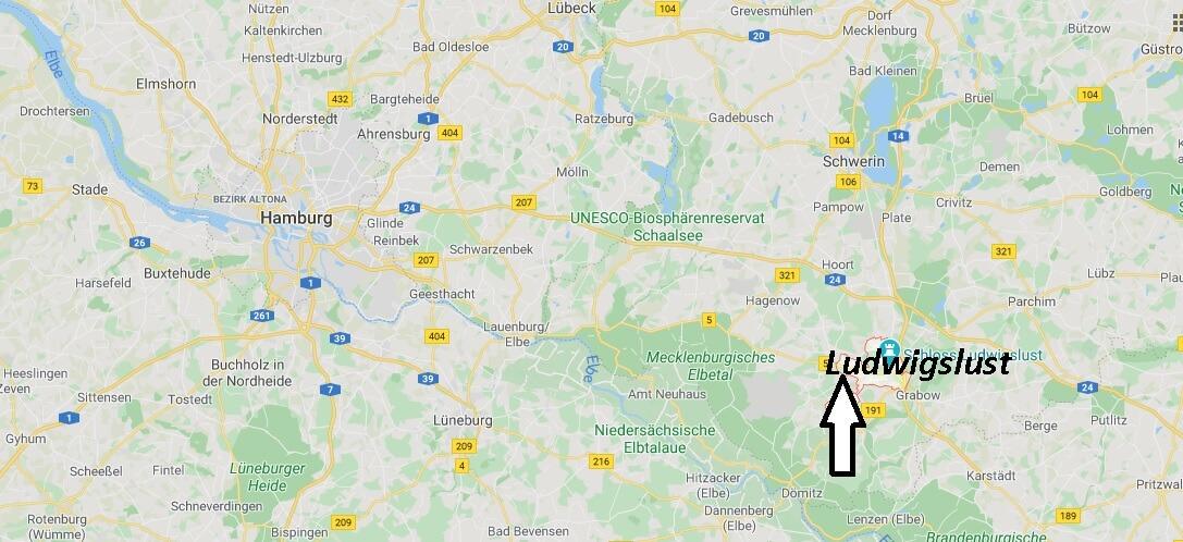 Wo liegt Ludwigslust? Wo ist Ludwigslust (Postleitzahl 19288)
