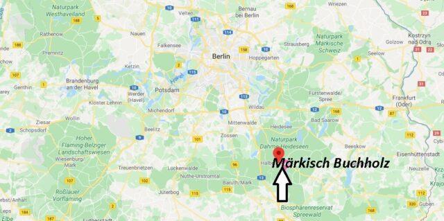 Wo liegt Märkisch Buchholz? Wo ist Märkisch Buchholz (Postleitzahl 15748)
