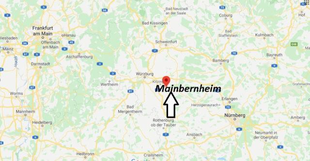 Wo liegt Mainbernheim? Wo ist Mainbernheim (Postleitzahl 97350)