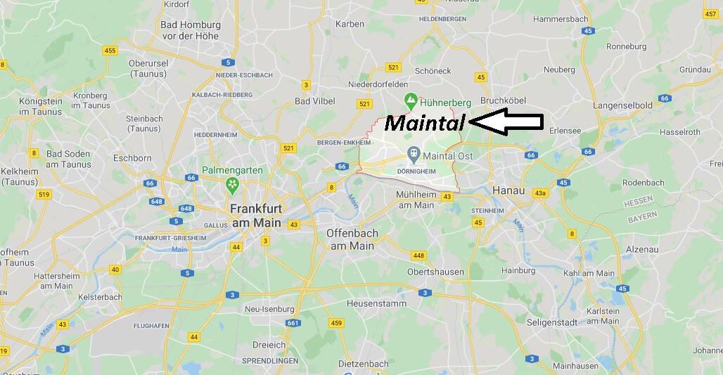 Wo liegt Maintal? Wo ist Maintal (Postleitzahl 63477)