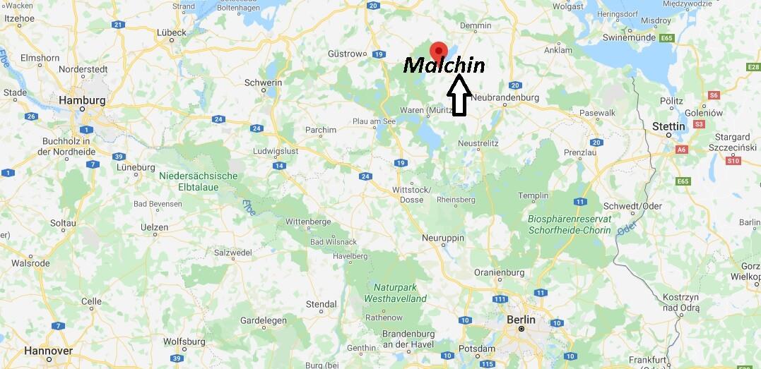 Wo liegt Malchin? Wo ist Malchin (Postleitzahl 17139)