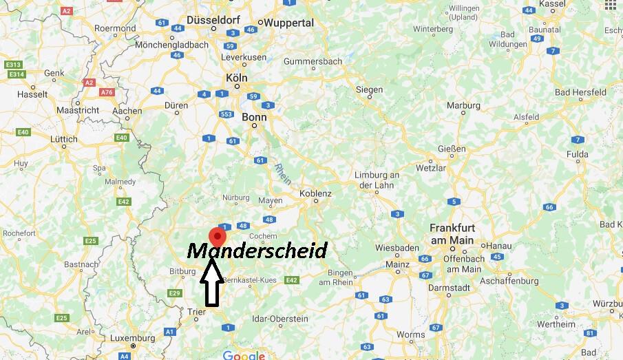 Wo liegt Manderscheid? Wo ist Manderscheid (Postleitzahl 54531)