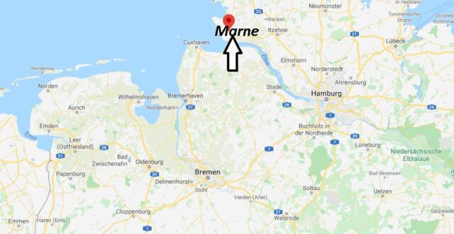 Wo liegt Marne? Wo ist Marne (Postleitzahl 25709)