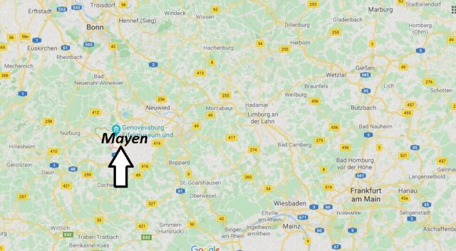 Wo liegt Mayen? Wo ist Mayen (Postleitzahl 56727)