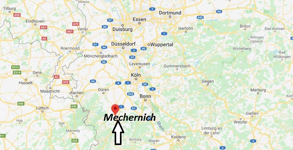 Wo liegt Mechernich? Wo ist Mechernich (Postleitzahl 53894)