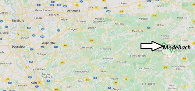 Wo liegt Medebach -Wo ist Medebach (Postleitzahl 59964)