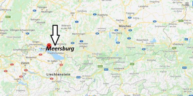 Wo liegt Meersburg? Wo ist Meersburg (Postleitzahl 88709)