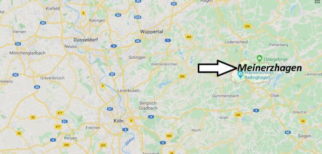 Wo liegt Meinerzhagen? Wo ist Meinerzhagen (Postleitzahl 58540)