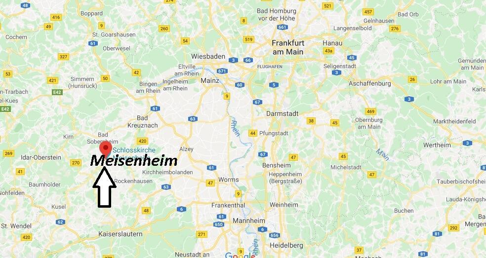 Wo liegt Meisenheim? Wo ist Meisenheim
