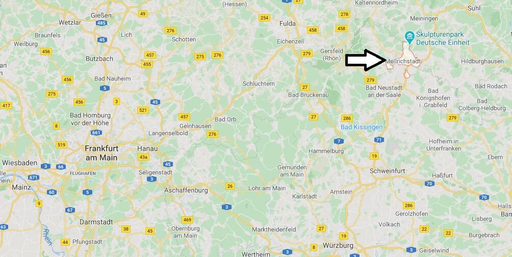 Wo liegt Mellrichstadt? Wo ist Mellrichstadt (Postleitzahl 97638)