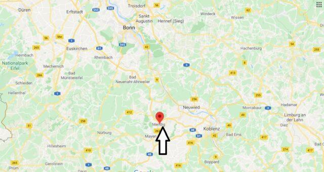 Wo liegt Mendig? Wo ist Mendig (Postleitzahl 56743)