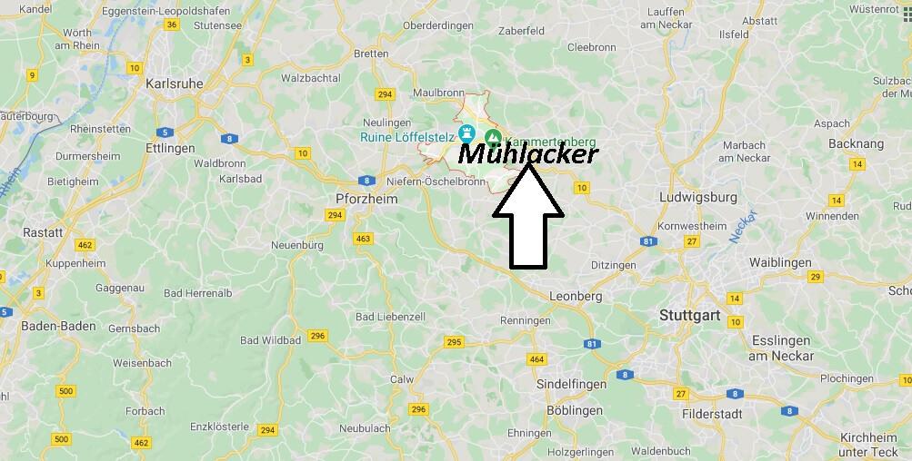 Wo liegt Mühlacker -Wo ist Mühlacker (Postleitzahl 75417)