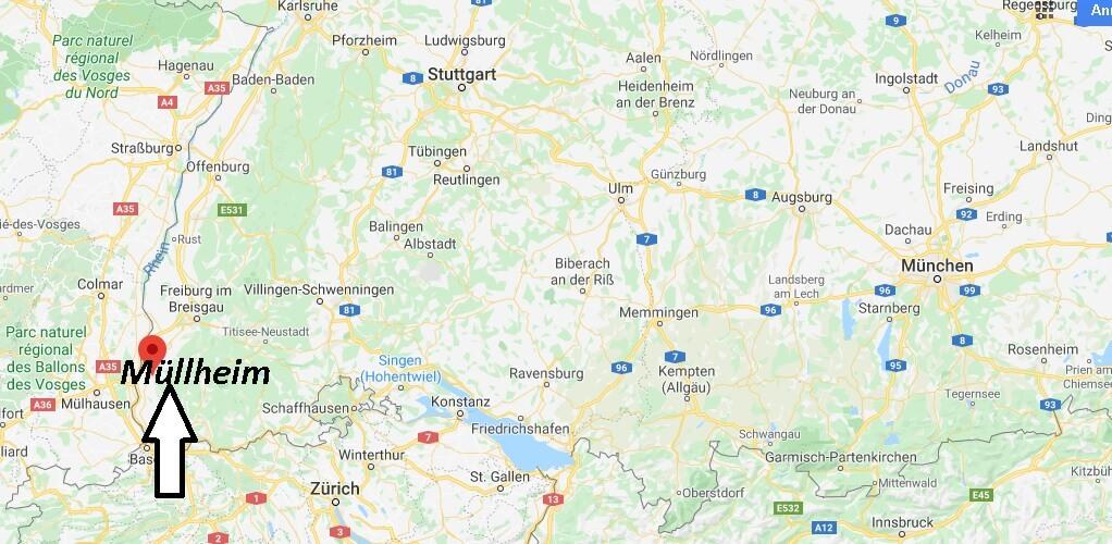 Wo liegt Müllheim - Wo ist Müllheim (Postleitzahl 79379)