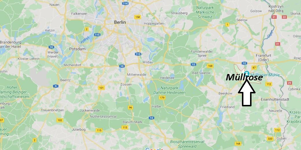 Wo liegt Müllrose - Wo ist Müllrose (Postleitzahl 15299)