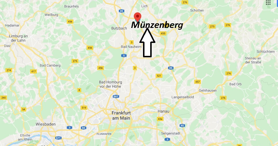 Wo liegt Münzenberg - Wo ist Münzenberg (Postleitzahl 35516)