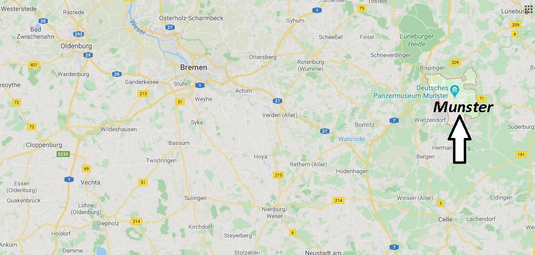 Wo liegt Munster -Wo ist Munster (Postleitzahl 29633)