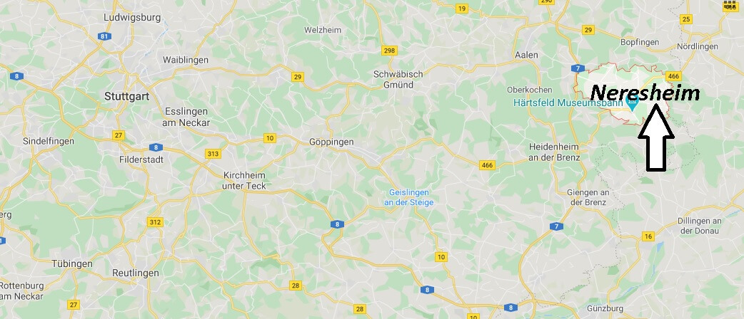 Wo liegt Neresheim - Wo ist Neresheim (Postleitzahl 73450)
