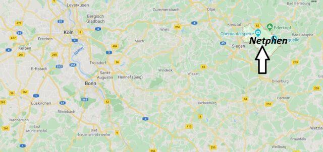 Wo liegt Netphen - Wo ist Netphen (Postleitzahl 57250)