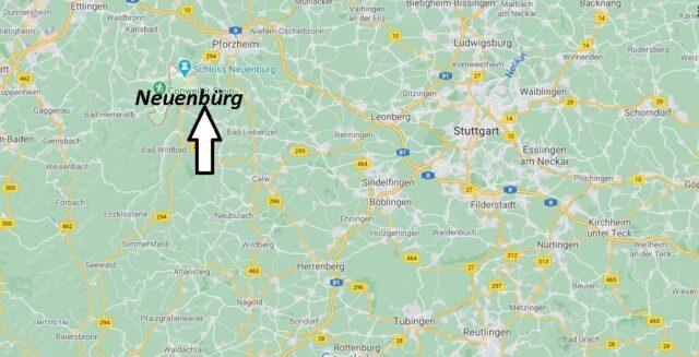 Wo liegt Neuenbürg - Wo ist Neuenbürg (Postleitzahl 75305)