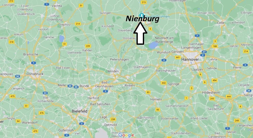 Wo liegt Nienburg - Wo ist Nienburg (Postleitzahl 31582)