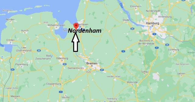 Wo liegt Nordenham - Wo ist Nordenham (Postleitzahl 26954)