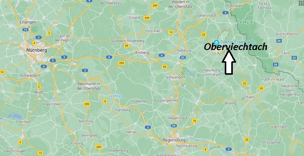 Wo liegt Oberviechtach - Wo ist Oberviechtach (Postleitzahl 92526)