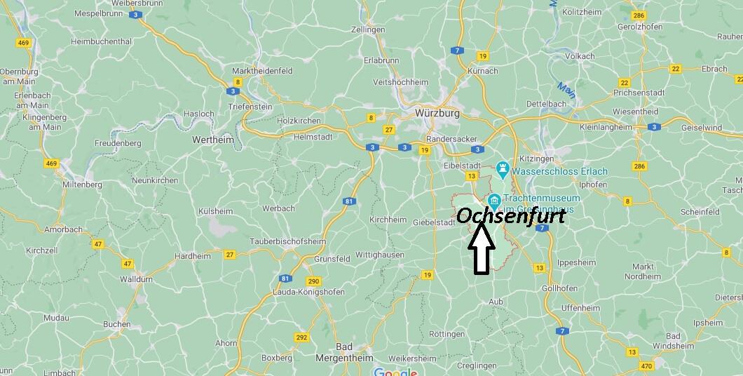 Wo liegt Ochsenfurt - Wo ist Ochsenfurt (Postleitzahl 97199)