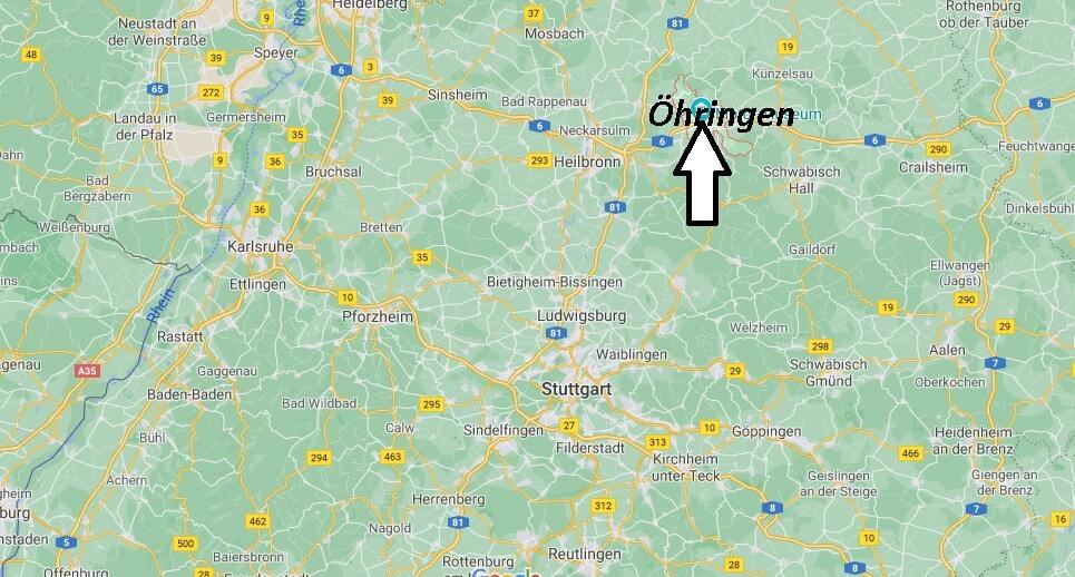 Wo liegt Öhringen -Wo ist Öhringen (Postleitzahl 74613)