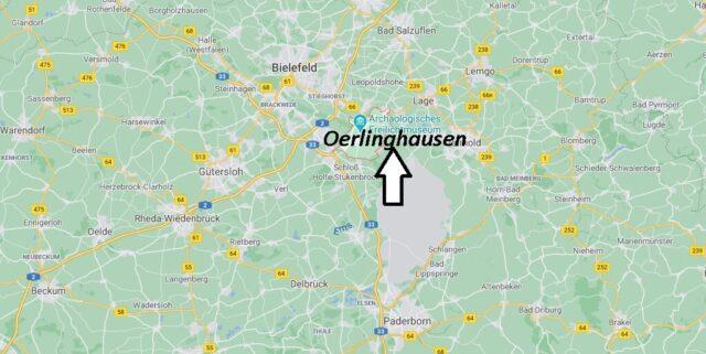 Wo liegt Oerlinghausen -Wo ist Oerlinghausen (Postleitzahl 33813)