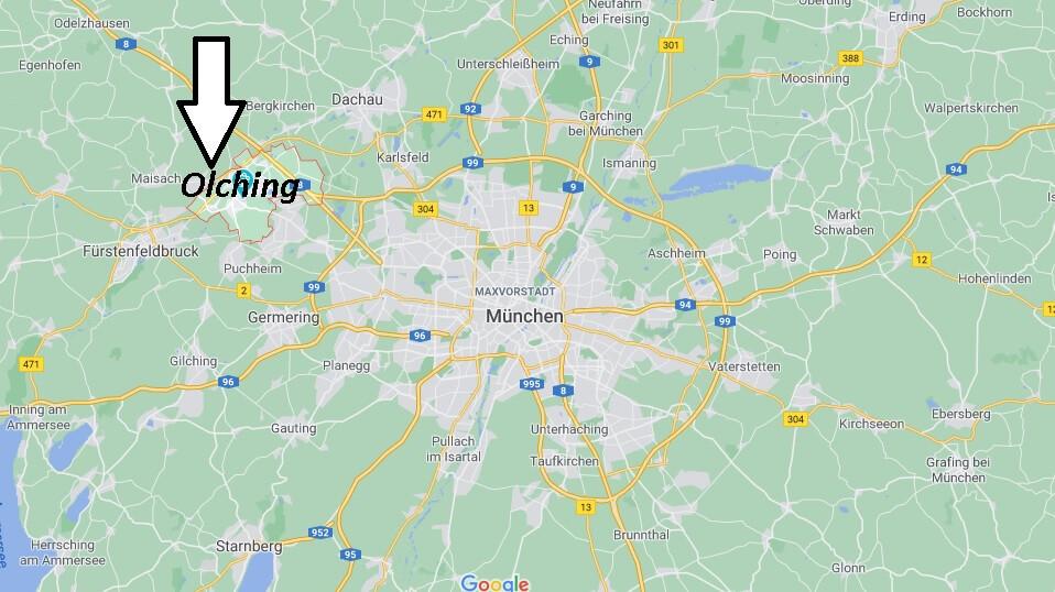 Wo liegt Olching -Wo ist Olching (Postleitzahl 82140)