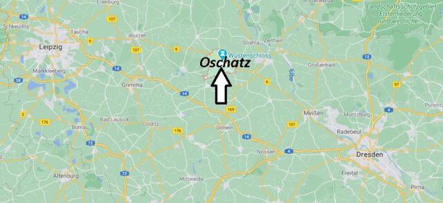 Wo liegt Oschatz - Wo ist Oschatz (Postleitzahl 04758)