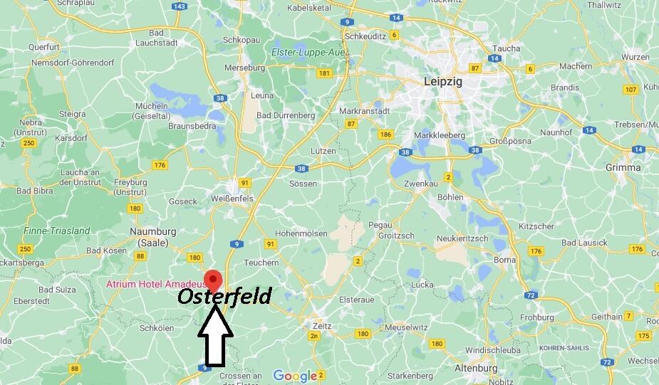 Wo liegt Osterfeld -Wo ist Osterfeld (Postleitzahl 06721)