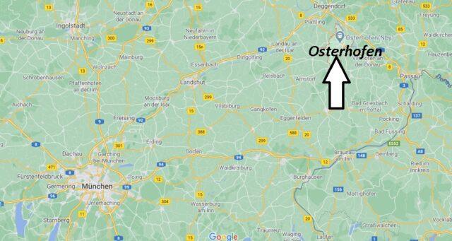 Wo liegt Osterhofen - Wo ist Osterhofen (Postleitzahl 94486)