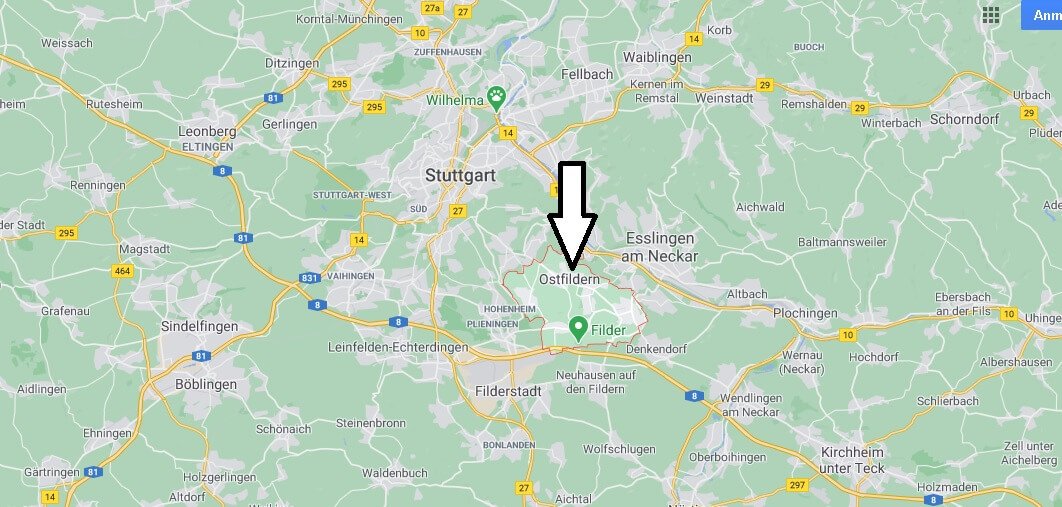 Wo liegt Ostfildern -Wo ist Ostfildern (Postleitzahl 73760)