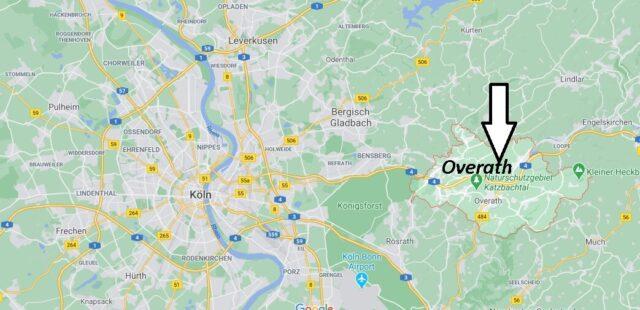 Wo liegt Overath - Wo ist Overath (Postleitzahl 51491)