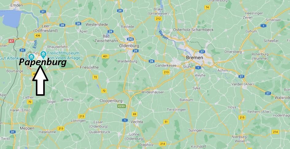 Wo liegt Papenburg -Wo ist Papenburg (Postleitzahl 26871)