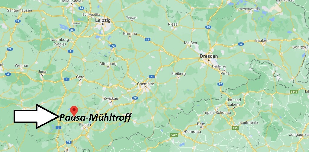 Wo liegt Pausa-Mühltroff -Wo ist v (Postleitzahl 07919)