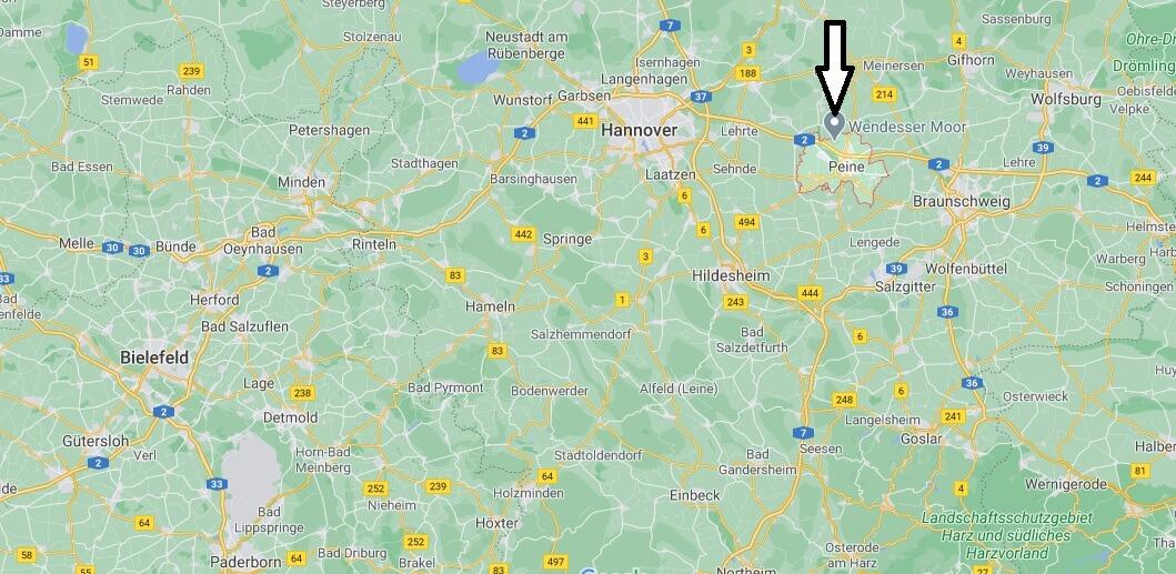 Wo liegt Peine-Wo ist Peine (Postleitzahl 31224)