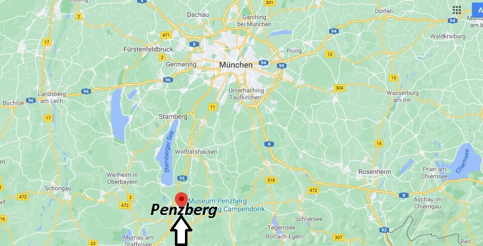 Wo liegt Penzberg-Wo ist Penzberg (Postleitzahl 82377)