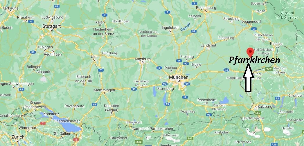 Wo liegt Pfarrkirchen- Wo ist Pfarrkirchen (Postleitzahl 84347)