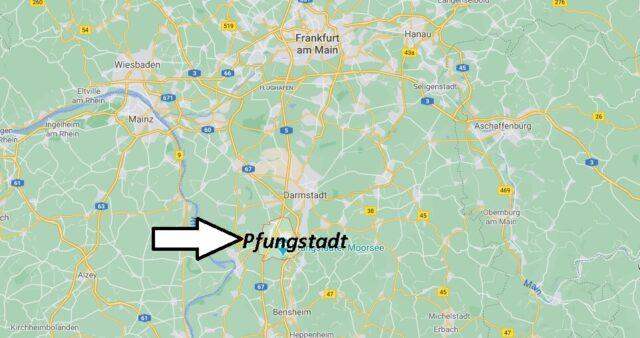 Wo liegt Pfungstadt -Wo ist Pfungstadt (Postleitzahl 64319)