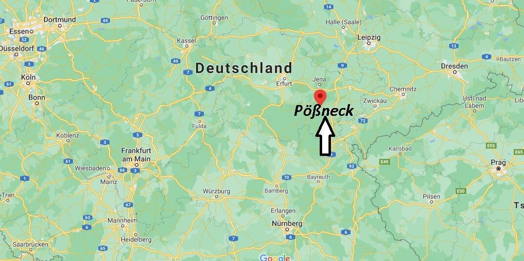 Wo liegt Pößneck - Wo ist Pößneck (Postleitzahl 07381)