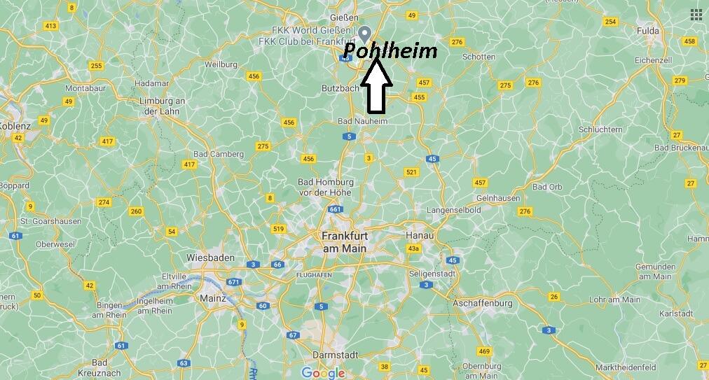 Wo liegt Pohlheim- Wo ist Pohlheim (Postleitzahl 35415)