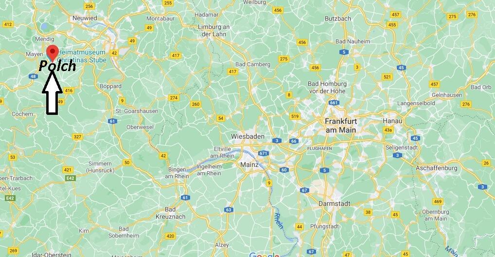 Wo liegt Polch- Wo ist Polch (Postleitzahl 56751)