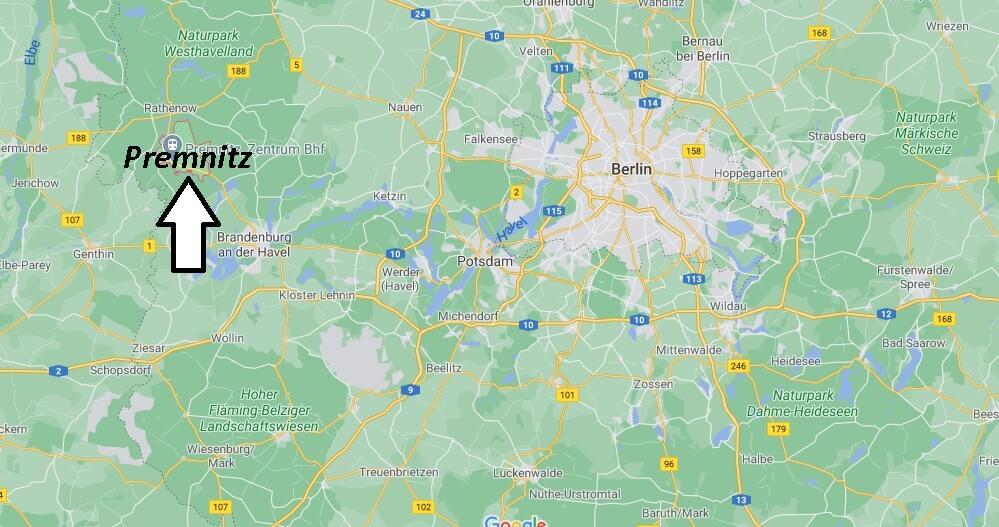 Wo liegt Premnitz-Wo ist Premnitz (Postleitzahl 14727)