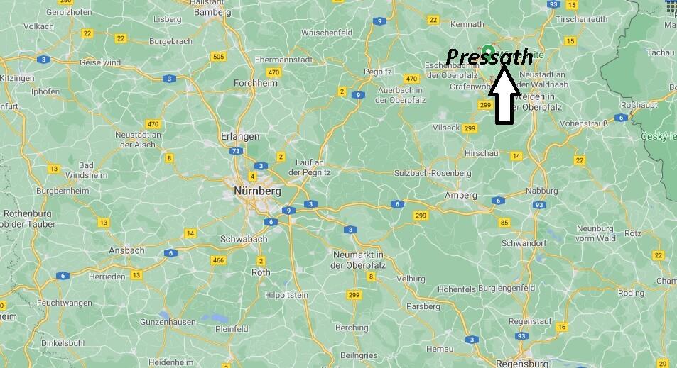Wo liegt Pressath-Wo ist Pressath (Postleitzahl 92690)
