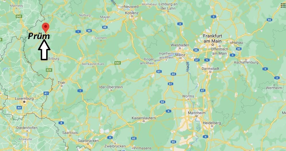 Wo liegt Prüm- Wo ist Prüm (Postleitzahl 54595)