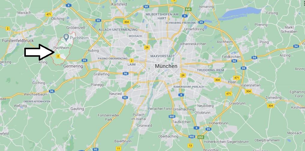 Wo liegt Puchheim-Wo ist Puchheim (Postleitzahl 82178)