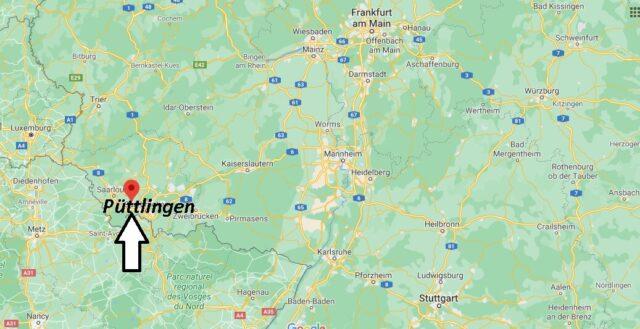 Wo liegt Püttlingen - Wo ist Püttlingen (Postleitzahl 66346)
