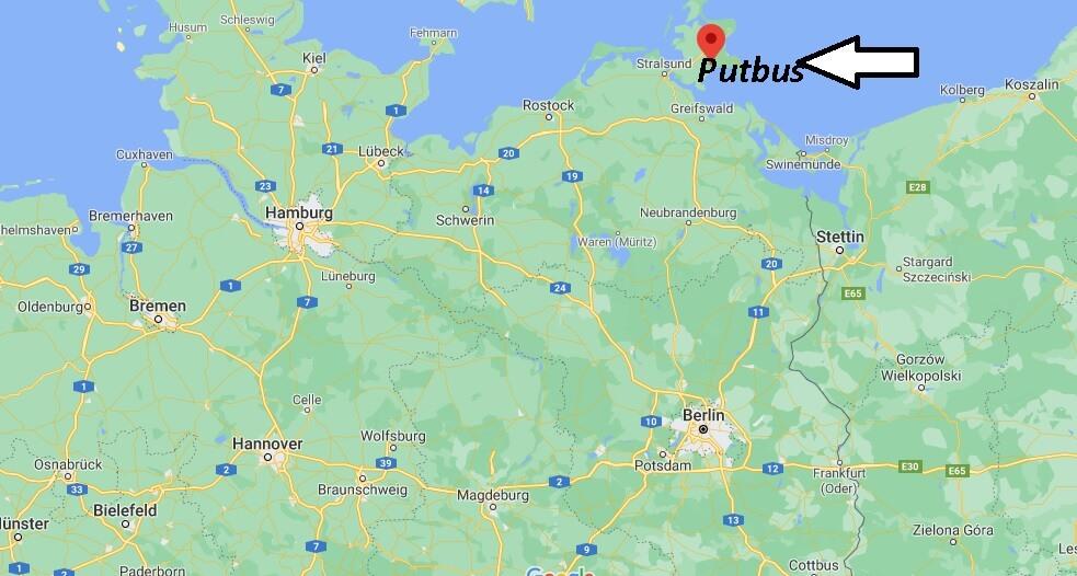 Wo liegt Putbus- Wo ist Putbus (Postleitzahl 18581)